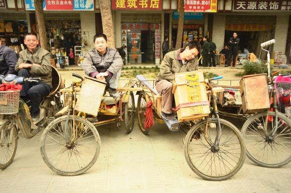 Chinese rickshaw vans