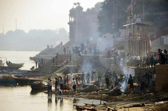 cremations on the Ganges